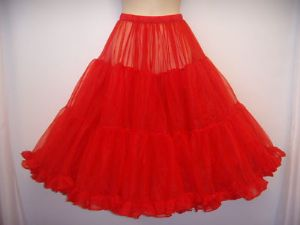 Frilly,full,swishy1950's style  Red Prom Petticoat